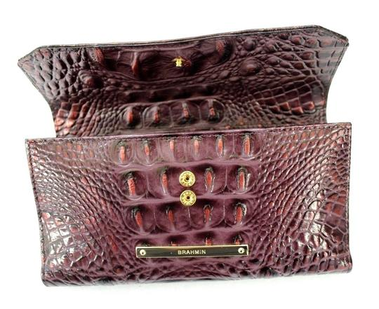 Brahmin Brahmin Fig Chapelle Genuine Croc-Embossed Leather Soft Checkbook Image 2