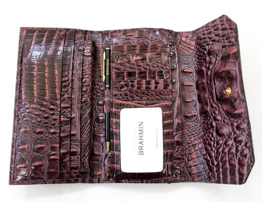 Brahmin Brahmin Fig Chapelle Genuine Croc-Embossed Leather Soft Checkbook Image 4