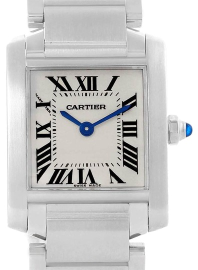 Preload https://img-static.tradesy.com/item/25330026/cartier-silver-tank-francaise-stainless-steel-ladies-w51008q3-watch-0-1-540-540.jpg