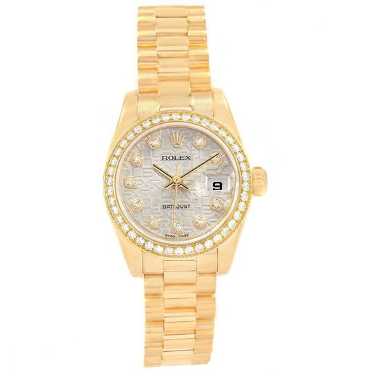 Rolex Rolex President 26mm Yellow Gold Diamond Ladies Watch 179138 Box Paper Image 1
