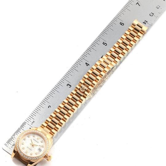 Rolex Rolex President 26mm Yellow Gold Diamond Ladies Watch 179138 Box Paper Image 9