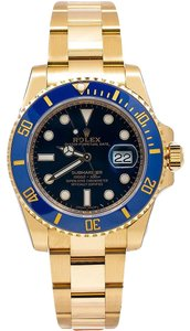 Rolex Rolex Submariner Date 116618LB 40MM Blue Dial With Yellow Gold