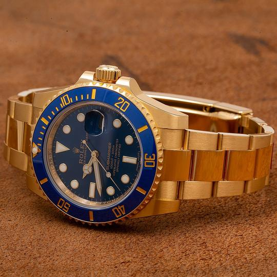 Rolex Rolex Submariner Date 116618LB 40MM Blue Dial With Yellow Gold Image 1