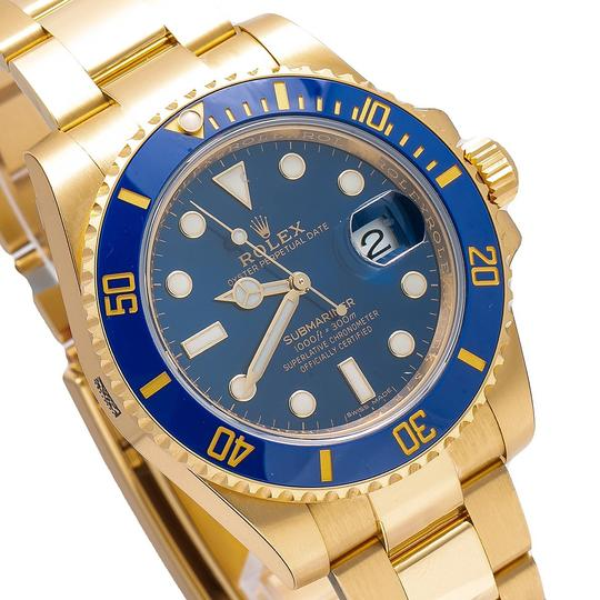 Rolex Rolex Submariner Date 116618LB 40MM Blue Dial With Yellow Gold Image 3