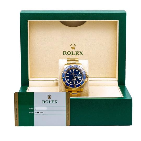 Rolex Rolex Submariner Date 116618LB 40MM Blue Dial With Yellow Gold Image 4