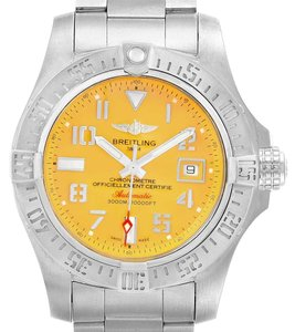 Breitling Breitling Avenger II 45 Seawolf Yellow Dial Mens Watch A17331 Box Card