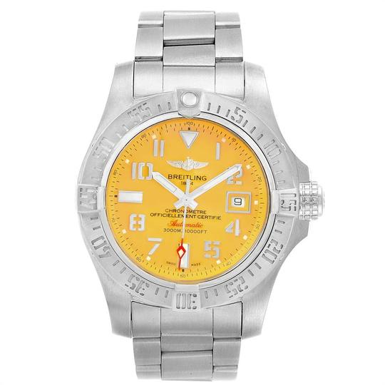 Breitling Breitling Avenger II 45 Seawolf Yellow Dial Mens Watch A17331 Box Card Image 1