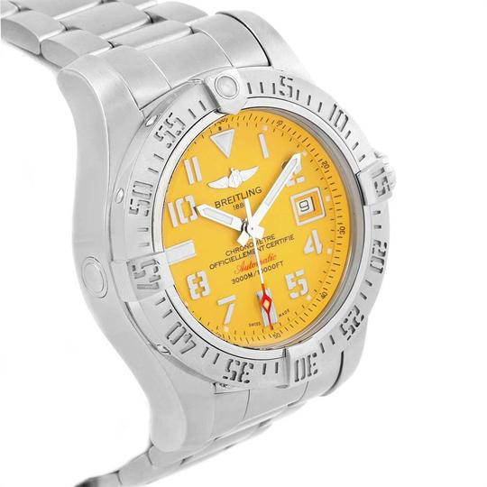 Breitling Breitling Avenger II 45 Seawolf Yellow Dial Mens Watch A17331 Box Card Image 2