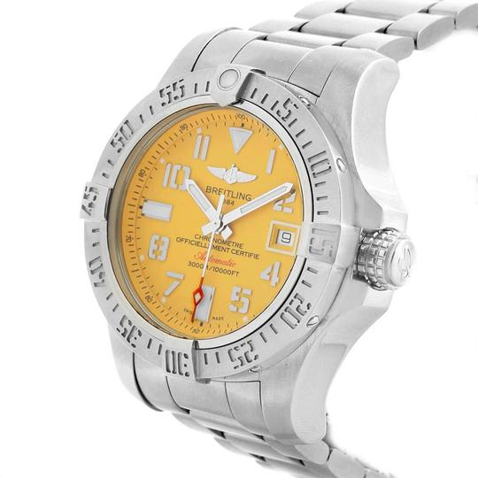 Breitling Breitling Avenger II 45 Seawolf Yellow Dial Mens Watch A17331 Box Card Image 3