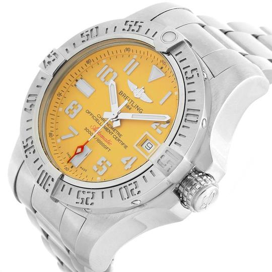 Breitling Breitling Avenger II 45 Seawolf Yellow Dial Mens Watch A17331 Box Card Image 4