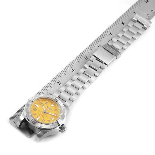 Breitling Breitling Avenger II 45 Seawolf Yellow Dial Mens Watch A17331 Box Card Image 7