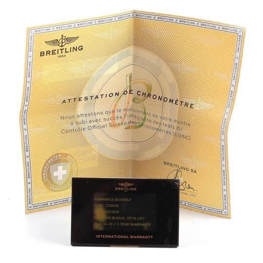 Breitling Breitling Avenger II 45 Seawolf Yellow Dial Mens Watch A17331 Box Card Image 8