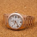 Rolex Rolex Day-Date 228235 40MM White Dial With Rose Gold President Image 1