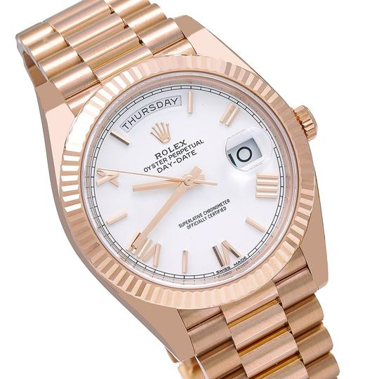 Rolex Rolex Day-Date 228235 40MM White Dial With Rose Gold President Image 2