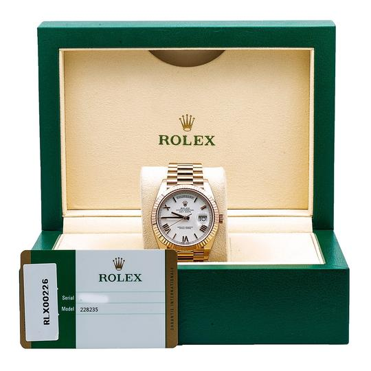 Rolex Rolex Day-Date 228235 40MM White Dial With Rose Gold President Image 5