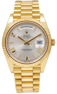 Rolex Rolex Day-Date 228238 40MM Silver Dial With Yellow Gold President