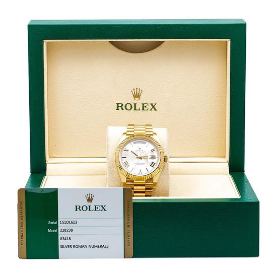 Rolex Rolex Day-Date 228238 40MM Silver Dial With Yellow Gold President Image 5
