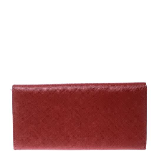 Salvatore Ferragamo Red Leather Vara Bow Continental Wallet Image 1