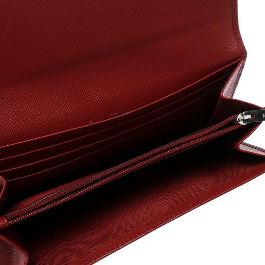 Salvatore Ferragamo Red Leather Vara Bow Continental Wallet Image 2