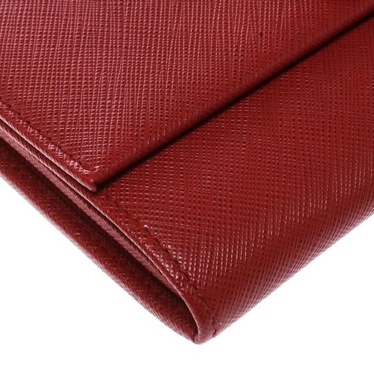 Salvatore Ferragamo Red Leather Vara Bow Continental Wallet Image 7