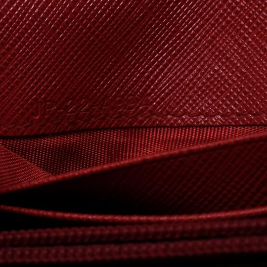 Salvatore Ferragamo Red Leather Vara Bow Continental Wallet Image 8
