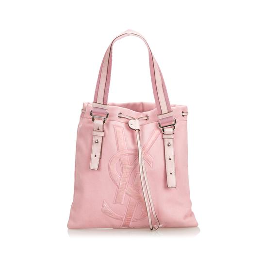 Preload https://img-static.tradesy.com/item/25330113/saint-laurent-fabric-kahala-france-pink-canvas-leather-tote-0-0-540-540.jpg