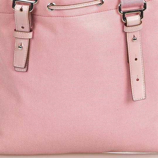 Saint Laurent 9dysto003 Vintage Ysl Canvas Leather Tote in Pink Image 11