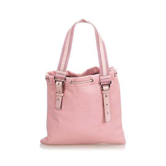 Saint Laurent 9dysto003 Vintage Ysl Canvas Leather Tote in Pink Image 2
