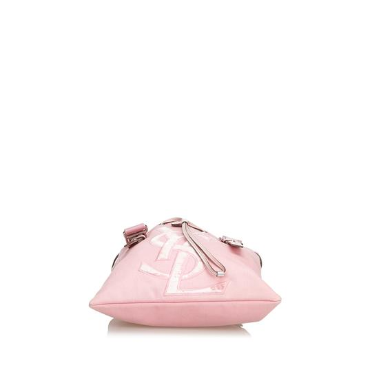 Saint Laurent 9dysto003 Vintage Ysl Canvas Leather Tote in Pink Image 3