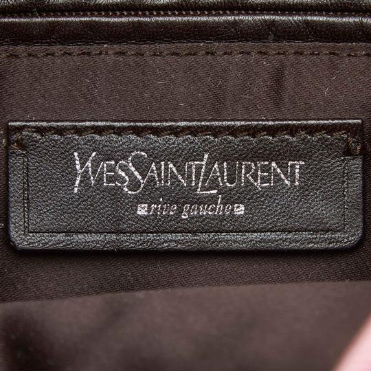 Saint Laurent 9dysto003 Vintage Ysl Canvas Leather Tote in Pink Image 5