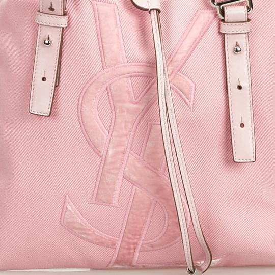 Saint Laurent 9dysto003 Vintage Ysl Canvas Leather Tote in Pink Image 9