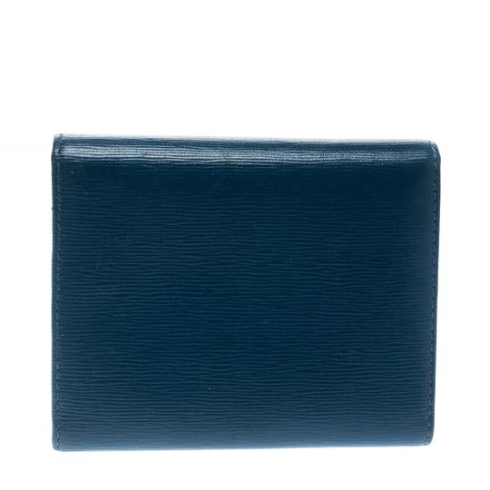 Prada Blue Leather Trifold Wallet Image 1