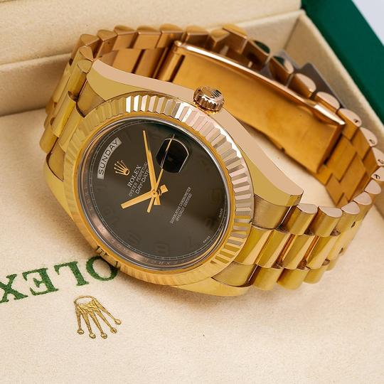 Rolex Rolex Day-Date II 218235 40MM Gray Dial With Yellow Gold President Image 1
