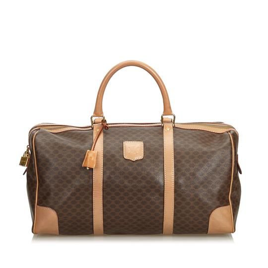 Preload https://img-static.tradesy.com/item/25330181/celine-macadam-pvc-duffle-italy-brown-plastic-leather-weekendtravel-bag-0-0-540-540.jpg