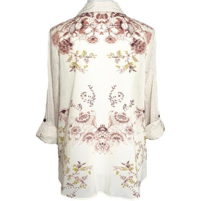 Free People Top Cream Pink Image 1
