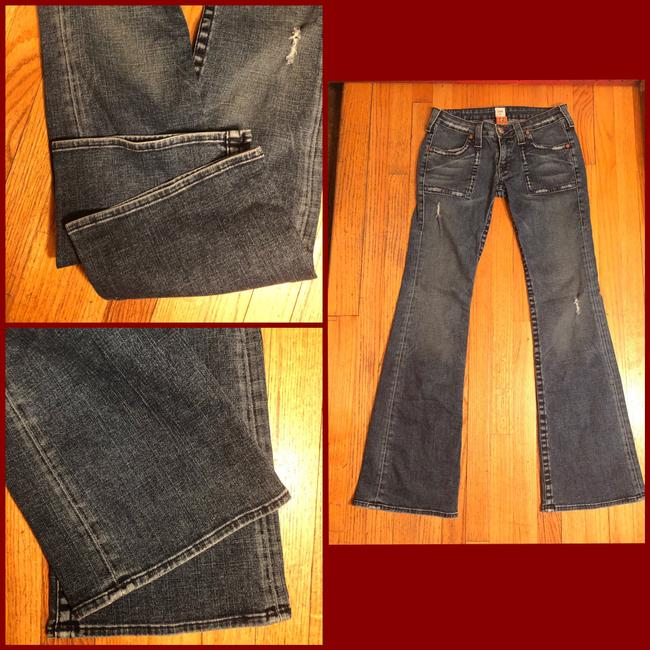 True Religion Boot Cut Jeans-Distressed Image 1