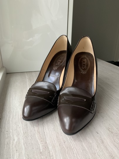 Tod's chocolate Brown Pumps Image 1