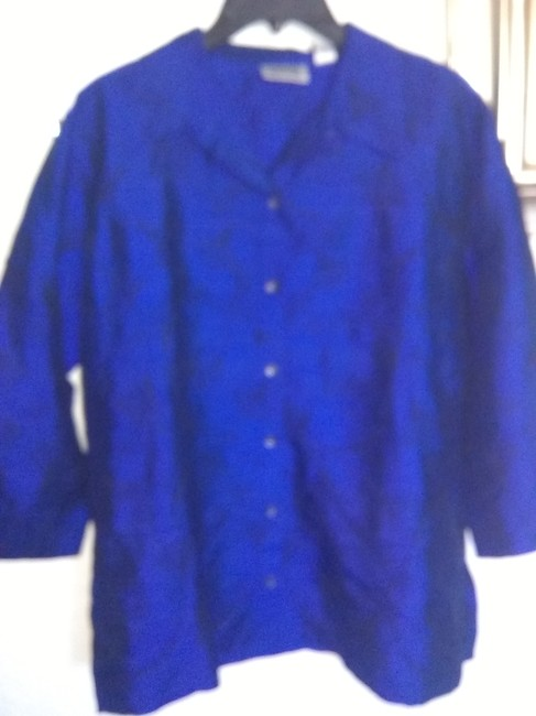 Chico's Button Down Shirt Blue Image 2