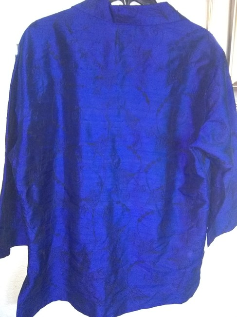 Chico's Button Down Shirt Blue Image 3
