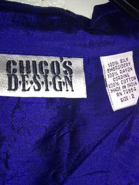 Chico's Button Down Shirt Blue Image 5