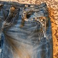 Miss Me Capris distressed denim Image 1
