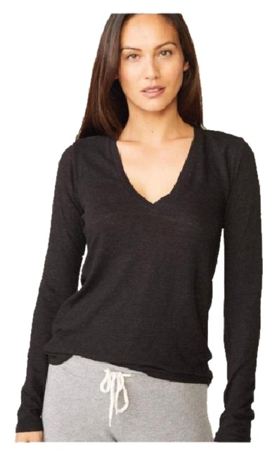 Item - Charcoal Textured Tri Blend Fitted Vee Tee Shirt Size 0 (XS)