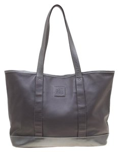 Longchamp Leather Tote in Grey