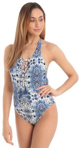 SeaFolly Seafolly Mandala Lace Up Reversible One Piece Swimsuit