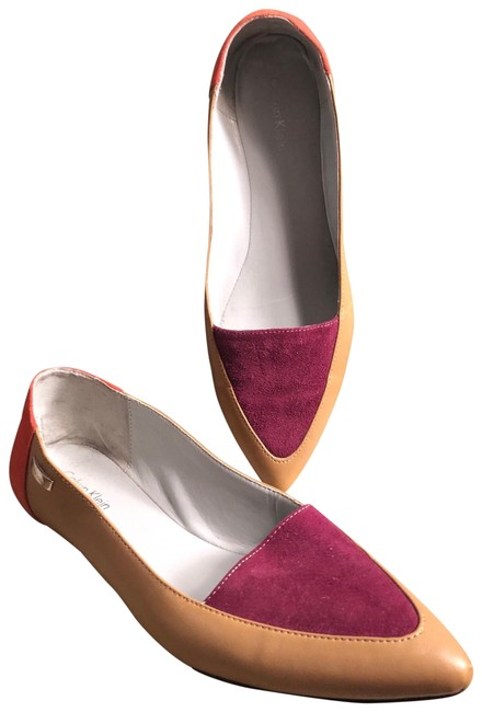 Item - Burgundy Wine/Orange/Tan/Silver 6.5-calvin Burgundy/Orange Suede/Tan Leather Flats Size US 6.5 Regular (M, B)