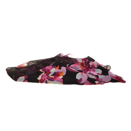 Gucci Multicolor Floral Printed Double Faced Silk Chiffon Scarf Image 1