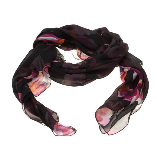 Gucci Multicolor Floral Printed Double Faced Silk Chiffon Scarf Image 2