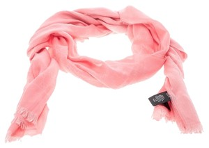 Gucci Pink Guccissima Fringed Edge Cotton Scarf
