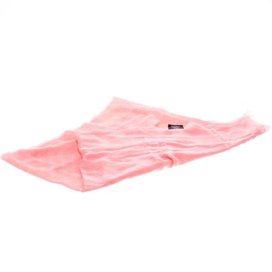 Gucci Pink Guccissima Fringed Edge Cotton Scarf Image 1