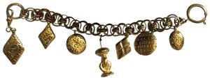 Chanel CHANEL 7 Charms Gold Plated Bracelet Timeless